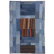 Sale 8626A - Lot 208 - A Cadrys Turkish Denim Patchwork Handspun Wool Carpet, Size; 304x201cm, RRP; $1450