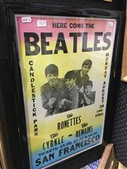 Sale 8695 - Lot 2035 - Here Come the Beatles Poster