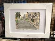 Sale 8767 - Lot 2020 - Greg Lipman - Cascade Street Paddington, ink and gouache, frame size: 27.5 x 36cm, signed lower right