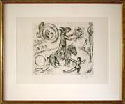 Sale 8810A - Lot 5014 - Marc Chagall (1887 - 1985) - LAne Au Bouquet De Fleurs, 1968  34.5 x 29.5cm