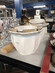 Sale 8819 - Lot 2362 - 2 Sets of Three Ceramic Plant Pots  (886)