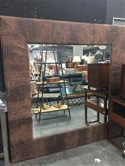 Sale 8876 - Lot 1017A - Faux Crocodile Skin Framed Mirror (190 x 190cm)