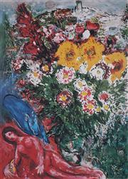 Sale 8985A - Lot 5037 - Marc Chagall (1887 - 1985) - Les Soucis 93 x 63.5 cm (frame: 113 x 87 x 3 cm)