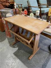 Sale 9039 - Lot 1018 - 1960s Teak Magazine Rack / Side Table (h:52 x w:58 x d:32cm)