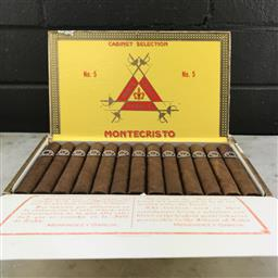 Sale 9089W - Lot 8 - Montecristo No.5 Cuban Cigars - box of 25, stamped May 2016