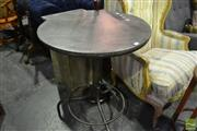 Sale 8472 - Lot 1051 - Round Metal Top Bar table