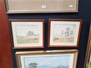 Sale 8595 - Lot 2003 - Hyde Perrott (2 works) - Country Landscape; Pastoral Scene, watercolours, 22.5 x 25cm, signed lower right (each)