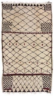 Sale 8725C - Lot 36 - A Vintage Moroccan Azilal Carpet, Hand-spun Wool, 300x160cm, RRP $3,960