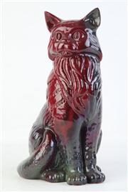 Sale 8810 - Lot 3 - Royal Doulton Flambe Cat