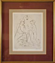 Sale 8810A - Lot 5033 - Arthur Boyd (1920 - 1999) - Jonah Series, 1972-73 29.5 x 23cm