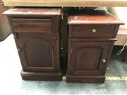 Sale 8822 - Lot 1245 - Near Pair of Mahogany Bedside Chests