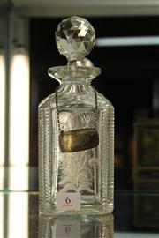 Sale 8327 - Lot 6 - Cut Glass Decanter