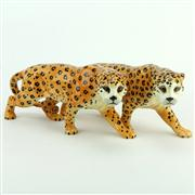 Sale 8387 - Lot 9 - Beswick Cheetah Figures