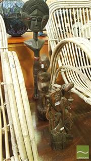 Sale 8390 - Lot 1562 - Tribal Figures x 3