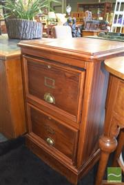 Sale 8390 - Lot 1321 - Timber Filing Cabinet