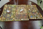 Sale 8518 - Lot 2343 - Set of 3 Shell Collages