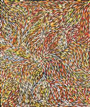 Sale 8519 - Lot 587 - Jeannie Petyarre (c1956 - ) - Bush Yam Leaves 118 x 100cm