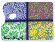 Sale 8565 - Lot 562 - Howard Arkley (1951 - 1999) - Untitled, 1998 (Artists palette) 29.5 x 39.5cm