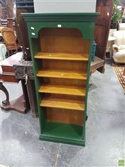 Sale 8601 - Lot 1049 - Green Painted Timber Open Bookshelf