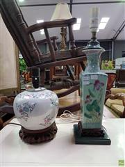 Sale 8601 - Lot 1102 - Two Oriental Base Table Lamps
