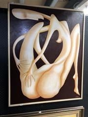 Sale 8779 - Lot 2068 - Artist Unknown - Nude Figure, acrylic on board, signed MC
