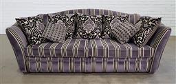 Sale 9191 - Lot 1008 - Fabric oversized Parker Knoll lounge (h:92 x w:240 x d:68cm)