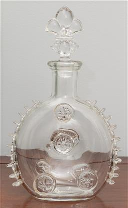 Sale 9256H - Lot 68 - A St Louis crystal decanter for Remy Martin, H28cm.