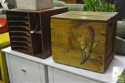 Sale 8284 - Lot 1054 - Timber Desk Organiser with a Timber Box