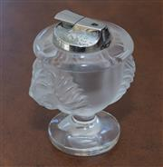 Sale 8341A - Lot 83 - A Lalique lion mask table lighter, H 11cm