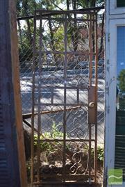 Sale 8390 - Lot 1377 - Ornate Metal Security Screen