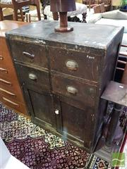 Sale 8532 - Lot 1085 - Rustic Tool Chest