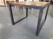 Sale 8601 - Lot 1116 - Shabby Chic Black Square Occasional Table (H: 76 L: 95 W: 95cm)