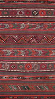 Sale 8626A - Lot 211 - A Cadrys Iranian Vintage Kelim Handspun Wool Carpet, Size; 330x150cm, RRP; $2750