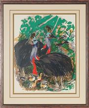 Sale 8819 - Lot 2021 - Ludmila Hawkins - The Cassowary, 1987 51 x 42cm