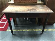 Sale 8822 - Lot 1217 - Rustic Top Hall Table with Central Drawer
