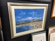 Sale 8906 - Lot 2067 - Pro Hart - Beach Scene  decorative print, 53 x 74 cm