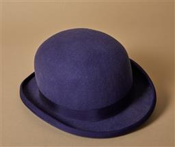 Sale 9093F - Lot 54 - A Christie's London purple bowler hat size medium