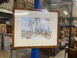 Sale 9147 - Lot 2071A - W.A Bingham  Country Track, watercolour, frame: 61 x 74 cm