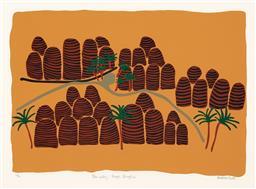 Sale 9212A - Lot 5076 - MADELENE PURDIE Palm Valley, Bungle Bungles screenprint, ed. 10/50 40 x 57 cm (frame: 75 x 89 x 4 cm) signed lower right