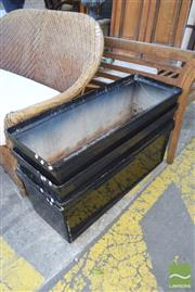 Sale 8390 - Lot 1373 - Set of Four Plastic Trough Planters