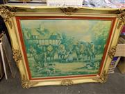 Sale 8429A - Lot 2101 - Framed Fox Hunting Print