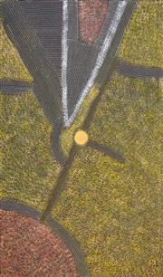 Sale 8484 - Lot 529 - Abie Loy Kemare (1972 - ) - Bush Hen 150 x 90cm