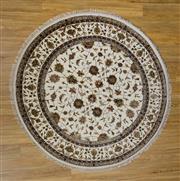 Sale 8566C - Lot 98 - Indian Wool & Silk Round 190cm x 190cm