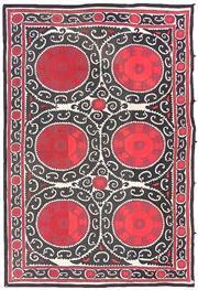 Sale 8725C - Lot 39 - A Vintage Uzbekistan Tapestry Carpet, Hand-knotted Wool, 344x240cm, RRP $3,000