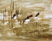 Sale 8787A - Lot 5021 - Hugh Sawrey (1919 - 1999) - Ibises, pre1984 40.5 x 50.5cm