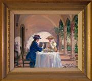 Sale 8810A - Lot 5018 - Gerrard Lants (1927 - 1998) - Afternoon Tea 49 x 59.5cm