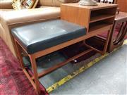 Sale 8822 - Lot 1147 - Teak Parker Telephone Table