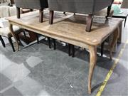 Sale 8988 - Lot 1095 - Rustic French Oak Dining Table over Cabriole Legs (H: 80 x L: 198 x W: 100cm)