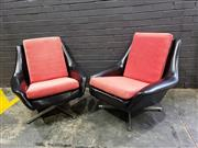Sale 9022 - Lot 1076 - Pair of Vinyl Upholstered Tessa Lounge Chairs (H:76 W:85cm)