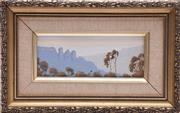 Sale 9023O - Lot 546 - Jack Ingram - Three Sisters Katoomba 27cm x 17cm